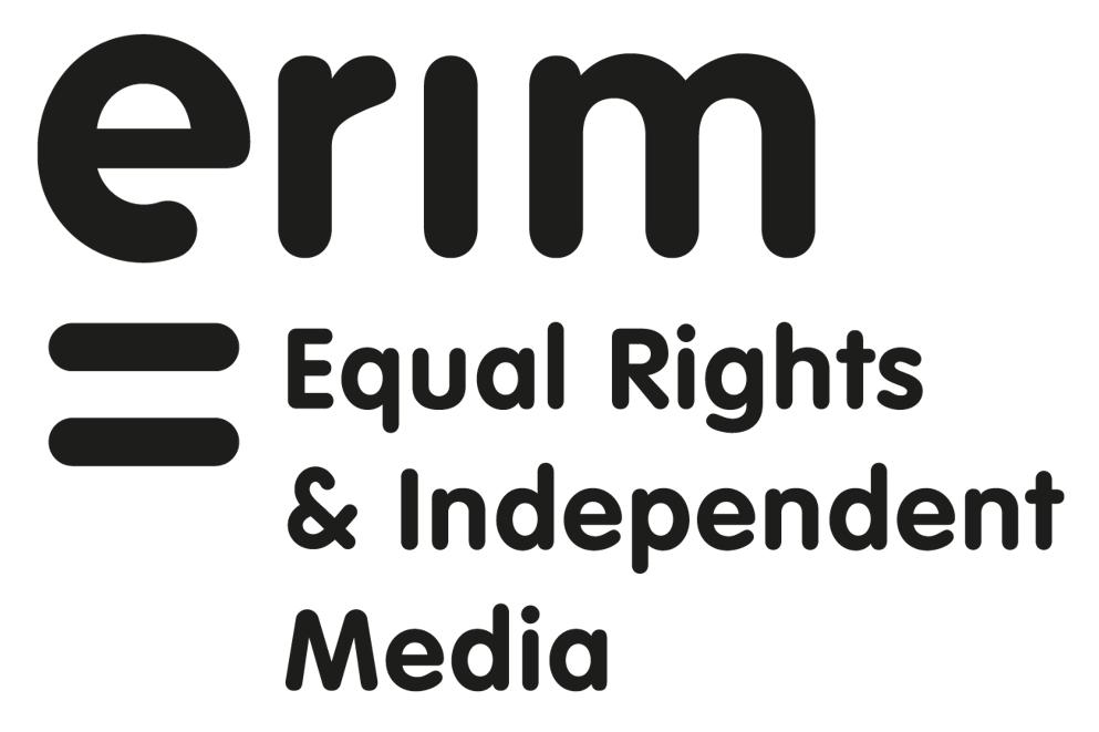 ERIM (Equal Rigths & Independent Media - anciennement IREX Europe) logo