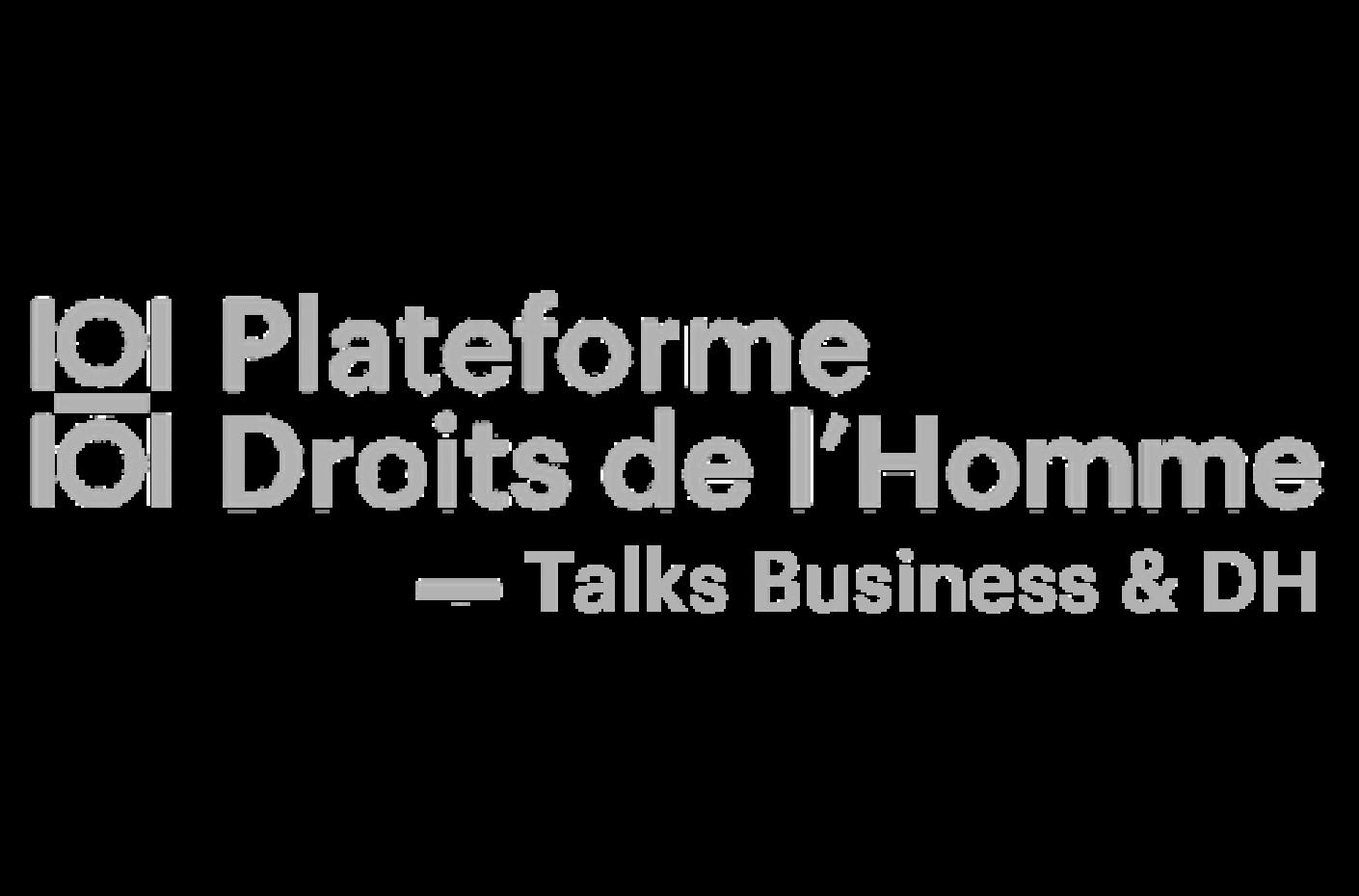 « Les Talks de la Plateforme des droits de l'Homme : Business et droits humains », en partenariat avec AFFECTIO MUTANDI #1